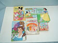 walt disney board chunky 6 book lot pinocchio, winnie the pooh, snow white