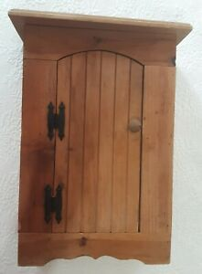 Small Vintage Wooden Cabinet Country Farmhouse Pine Cupboard