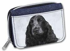 Blue Roan Cocker Spaniel Dog Girls/Ladies Denim Purse Wallet Christma, AD-SC26JW