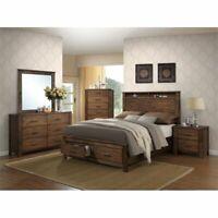 ACME Merrilee Queen Storage Bed in Oak
