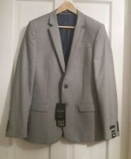 NEW !!! RIVER ISLAND MEN'S GREY SUIT JACKET SLIM FIT SIZE UK 40R EUR 102R