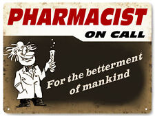 PHARMACIST metal sign funny GIFT VINTAGE style chemistry office wall decor 417