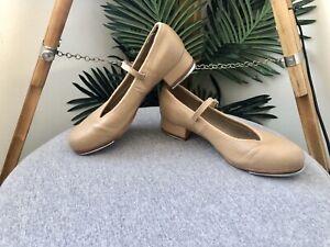 BLOCH Tap Shoes Girls Women's Size 5.5 Beige Tan (F) 21.5cm Innersole