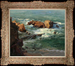 """Hand-painted Original Oil painting art impression seascape On Canvas 20""""x24"""""""