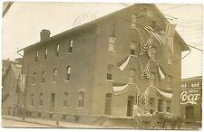 RPPC NY Corning Patriotic Mill on Market Street with Wagons 1911 Steuben County