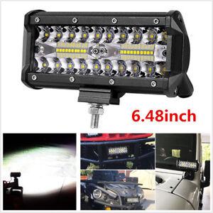 6inch 120W 12000LM Car Off-Road Fog Lights Spot Flood Driving LED Work Light Bar