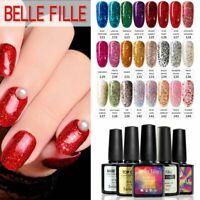 BELLE FILLE UV LED Diamond Gel Nail Art Bling UV Gel Soak Off Lacquer Top Base