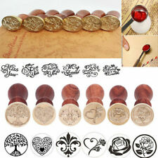Retro Wooden Handle Seal Wax Stamp Spoon Wedding Invitation Letter Card Decor