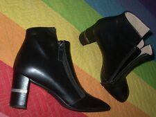 botas botines piel tacon metal