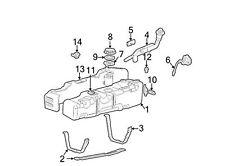 1999-2004 Ford F250 F350 F450 F550 Super Duty Front Fuel Tank Strap OEM NEW Y...