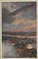 758: AK Postkarte Zeppelin Stuttgart 1915 Deutscher Luftflotten Verein