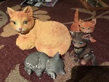 Collecting Etc. Cat Family Ceramic Set Of 4 New In Box Item#14857