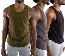 Mens 3 Pack Shirts T-Shirt Workout Tank Top Sports Training Muscle Singlets Tee