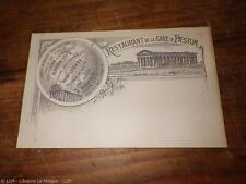 1890.Carte postale restaurant de la gare de Paestum.Rocco Barrella.