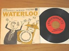 """COUNTRY 45 RPM w/PICTURE SLEEVE - STONEWALL JACKSON - COLUMBIA 41393 """"WATERLOO"""""""