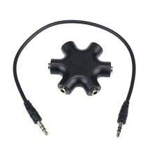 3.5mm Adaptateur Mini-Jack Pour Ecouteurs Casque Audio 1 Male à 5 Femelle / Câbl