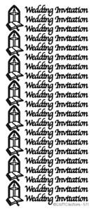 PEEL OFF STICKERS - WEDDING INVITATION - CARD MAKING - CRAFTING - BLACK - 571