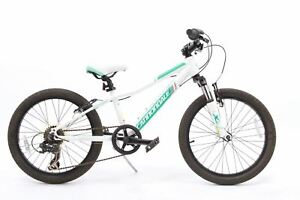 """USED Cannondale Trail 6 Speed Kids Mountain Bike 20"""" Wheels White Hardtail"""