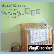 Sweet Dreams sleep tight we Wall Quote Mural Decal-nurseryquotes01