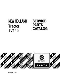 NEW HOLLAND TV145 TRACTOR PARTS CATALOG