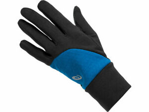 Asics Unisex Thermal Running Gloves One Size Black Blue Winter