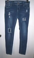 Almost Famous Size 7 Women's Medium Wash Distressed Skinny Jeans