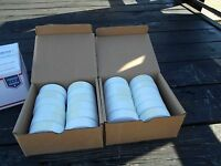 LOT MILITARY SURPLUS 24 ROLLS SURVEY MARKING TAPE WHITE 1 3/16 x 300 FT  US ARMY