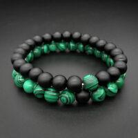 2 Pcs/Set Couples Bracelet Friendship Relationship Beads Strength Wrist Band F