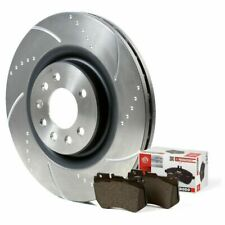 Mazda RX8 Front Brake Discs and Pads 323mm Dimpled Grooved Discs Ferodo Pads