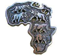 Africa Map Ebony Wood