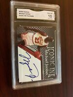 Michael Jordan Iconic Ink Graded Custom Art Card with Facsimile Autograph