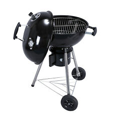 Charcoal Portable BBQ 18-Inch Kettle Grill Black Premium Outdoor Camping Cooker