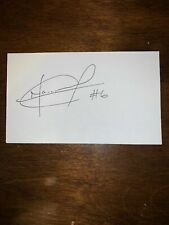 MAURICE EDU - SOCCER - AUTOGRAPH SIGNED - INDEX CARD -AUTHENTIC -C1522