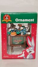 Looney Tunes Warner Brothers Bugs Bunny on Tv Christmas Ornament Matrix 1998