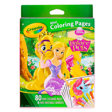 Crayola Mini Coloring Pages Disney Princess Palace Pets