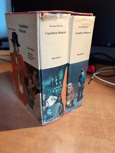 Georges Simenon - L'ISPETTORE MAIGRET - Mondadori 1961, 2 volumi in cofanetto
