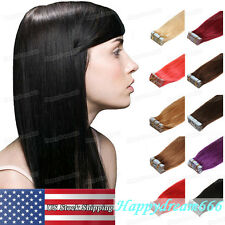 Adhesive Tape in Weft Brazilian Remy Human Hair Extensions US Stock Beauty Hair