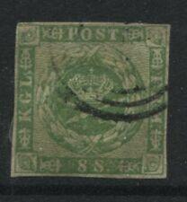 Denmark 1858 8 skilling green Royal Emblems used