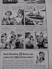FISHING ANGLING TALE  PABST AD    WW2 ! -   FANTASTIC ESQUIRE PAGE  VGC 1941  l