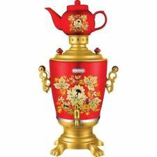 NEW Russian Samovar  Electric Kettle Tea Teapot Painted Tula Khokhloma Alice red