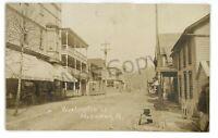 RPPC Washington Street View Store HYNDMAN PA Bedford County Real Photo Postcard