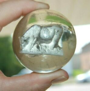 Vintage Sulphide Cow Marble 1.94''
