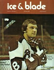 1970s Ice Blade hockey magazine Gary Peters Boston Braves Dartmouth College VG