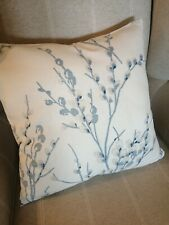 REVERSIBLE Laura Ashley Pussy Willow Off White/Seaspray BlueFabric Cushion Cover
