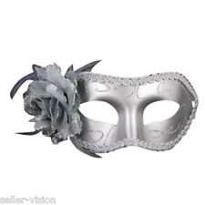 Silver Flower Venetian Party Ball Costume Masquerade Mask Fancy Dress Prom