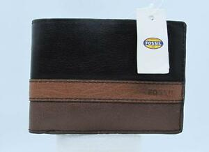 Fossil Men's Leather Wallet NEW WITH TAGS  Warren Int Traveler SML1330016  1593A