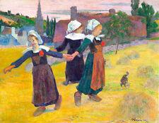 Breton Girls Dancing Pont-Aven by Paul Gauguin 75cm x 57.7cm Art Print