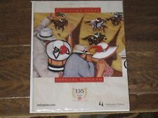 2009--New 135th Kentucky Derby Program (Mind That Bird)