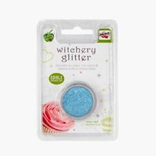 Turquoise Glitter Natural Cake Decorations Edible Toppers Soy Gluten Sugar Free