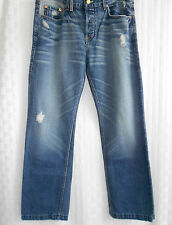 ARMANI EXCHANGE AUTHENTIC DISTRESSED BLUE JEANS MEN SIZE W36 x L32 MADE IN USA